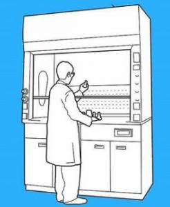 lemari asam - lab